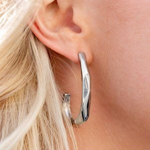 Made You Hook Silver Earring